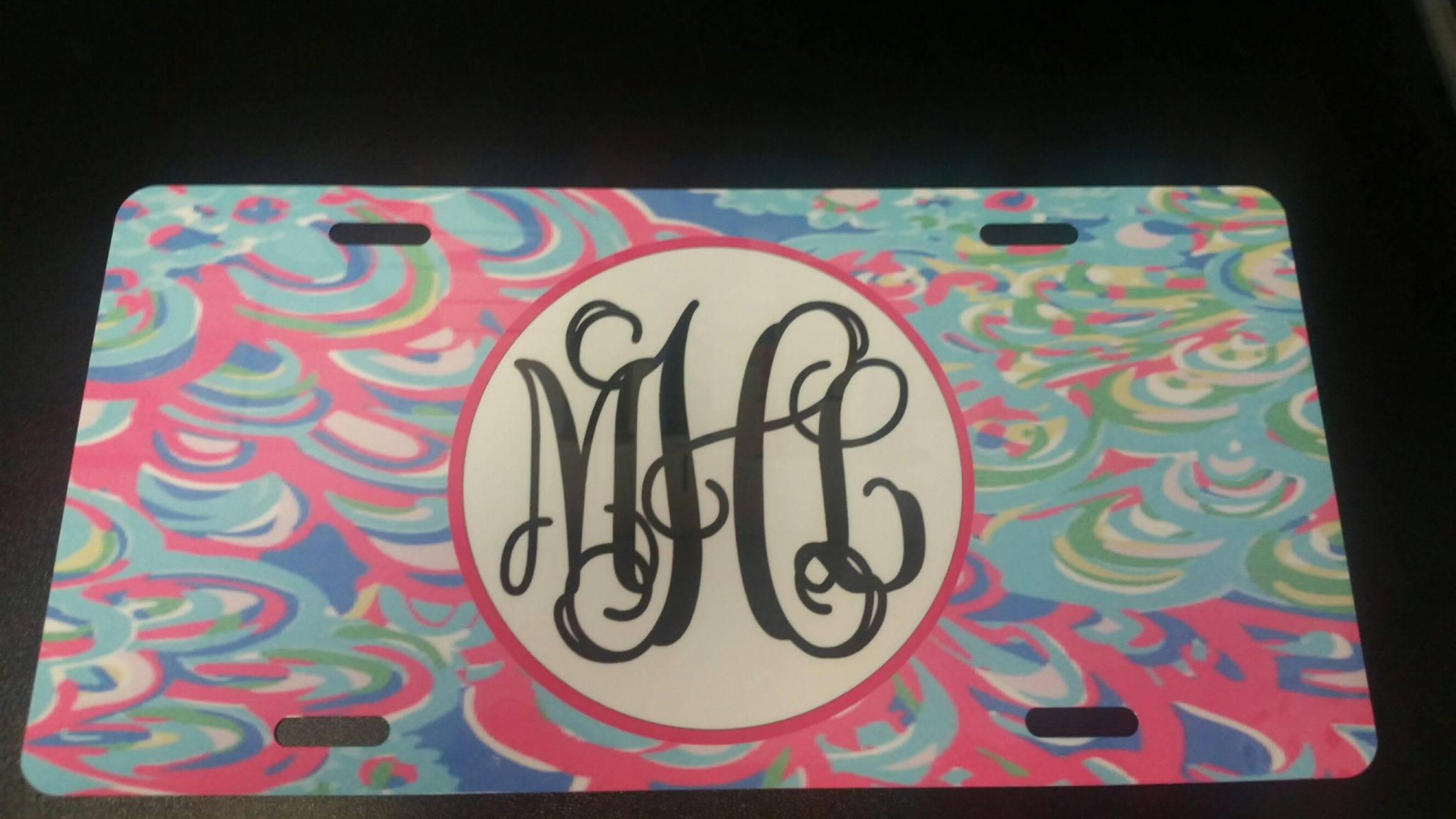 lilly inspired license plate lillys lagoon