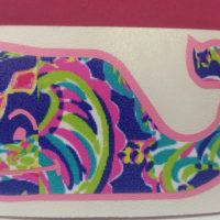 lilly inspired whale decal