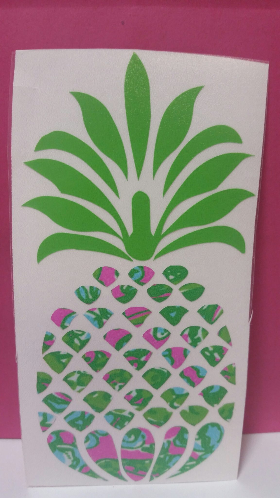 Lilly Inspired Pineapple Vinyl Decal In Chomp Chomp