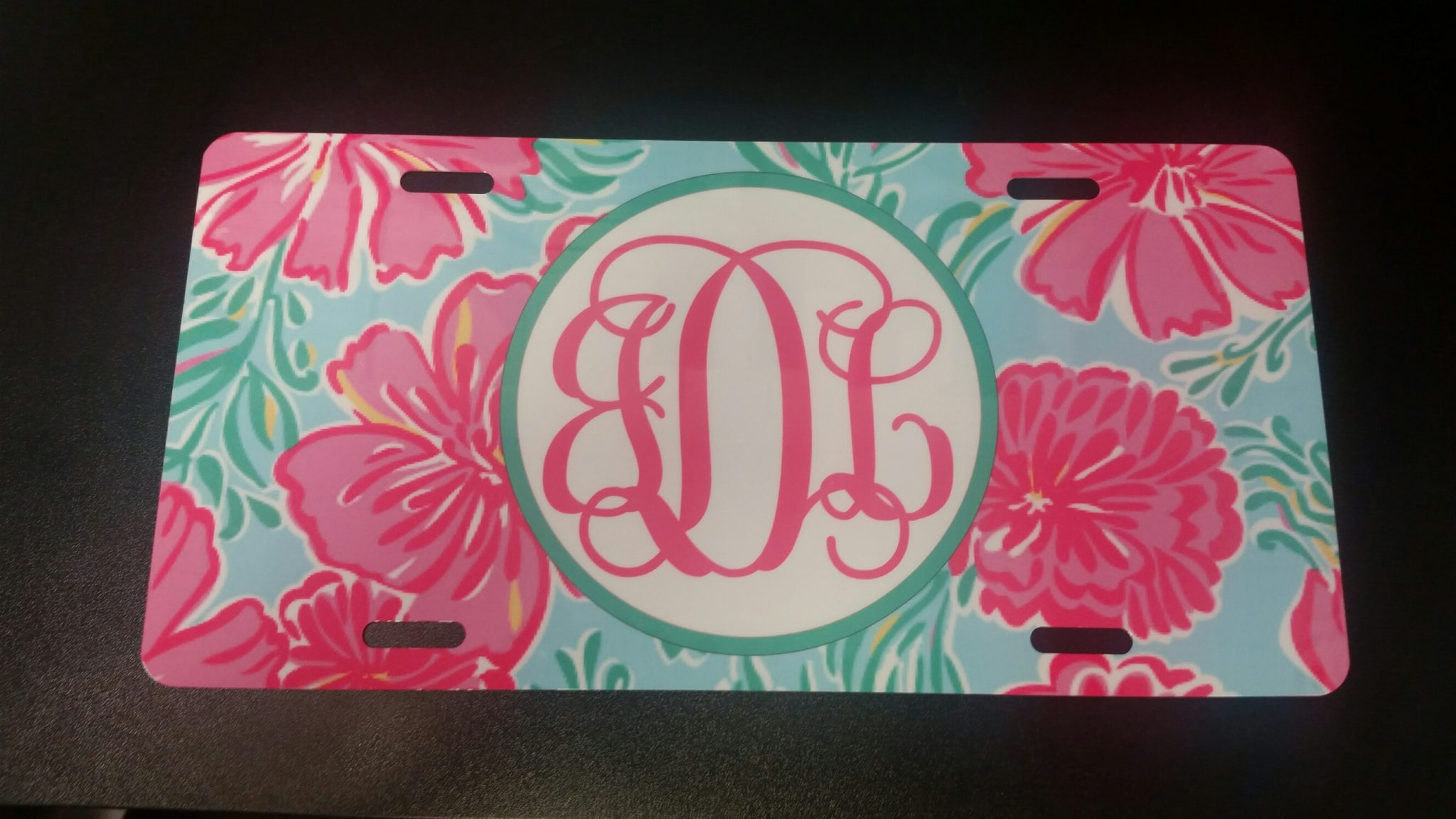 lilly inspired license plate
