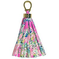 tassel key chain in Lilly Pulitzer gypsea pattern