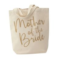 mother of the bride canvas tote